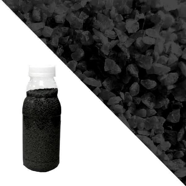 Black quartz crumb RAL 9005 (jet black)
