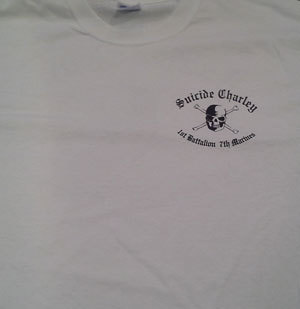 Suicide Charley Short Sleeve T-Shirt Medium (White)