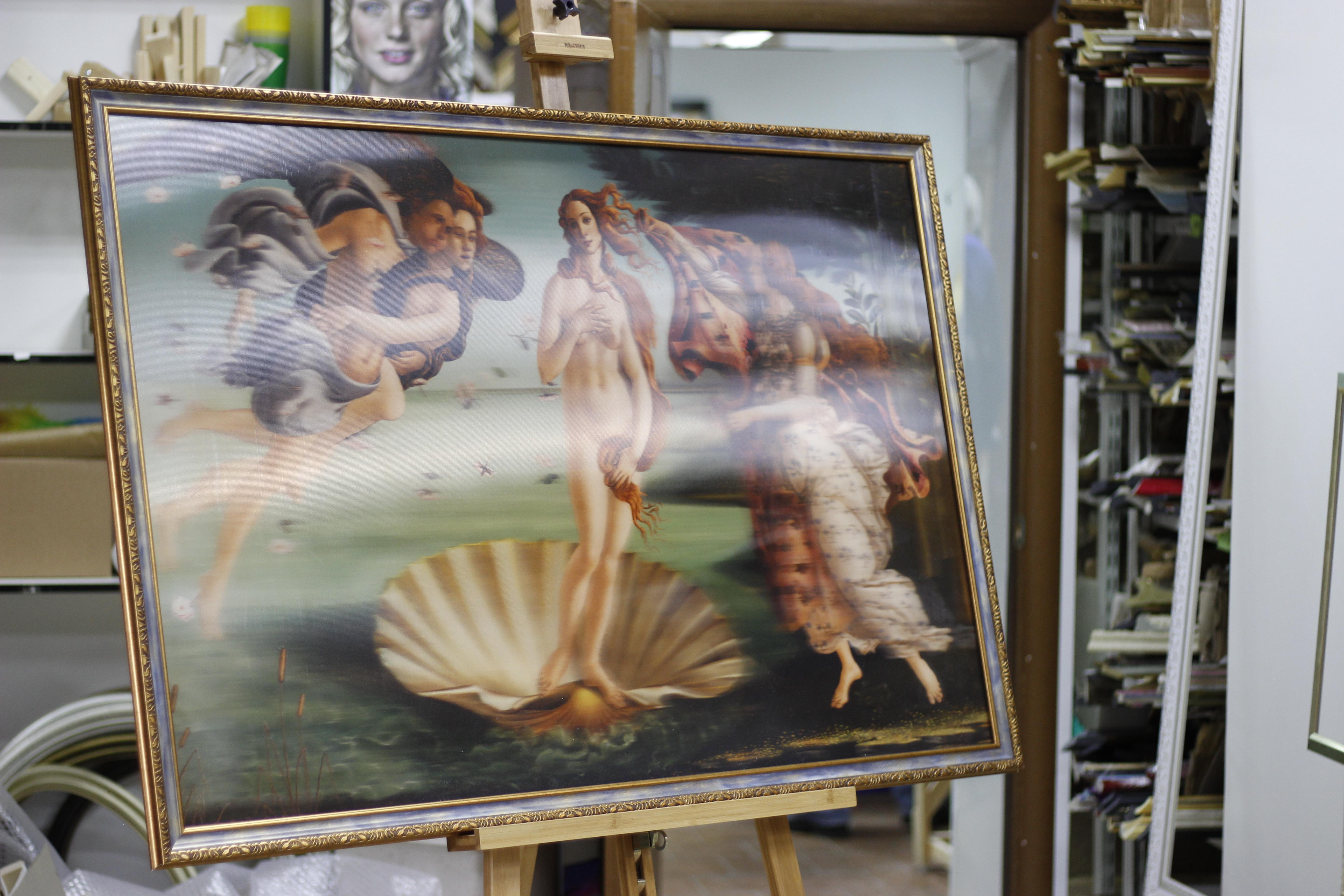 Рождение Венеры. Sandro Botticelli. 3д картина.