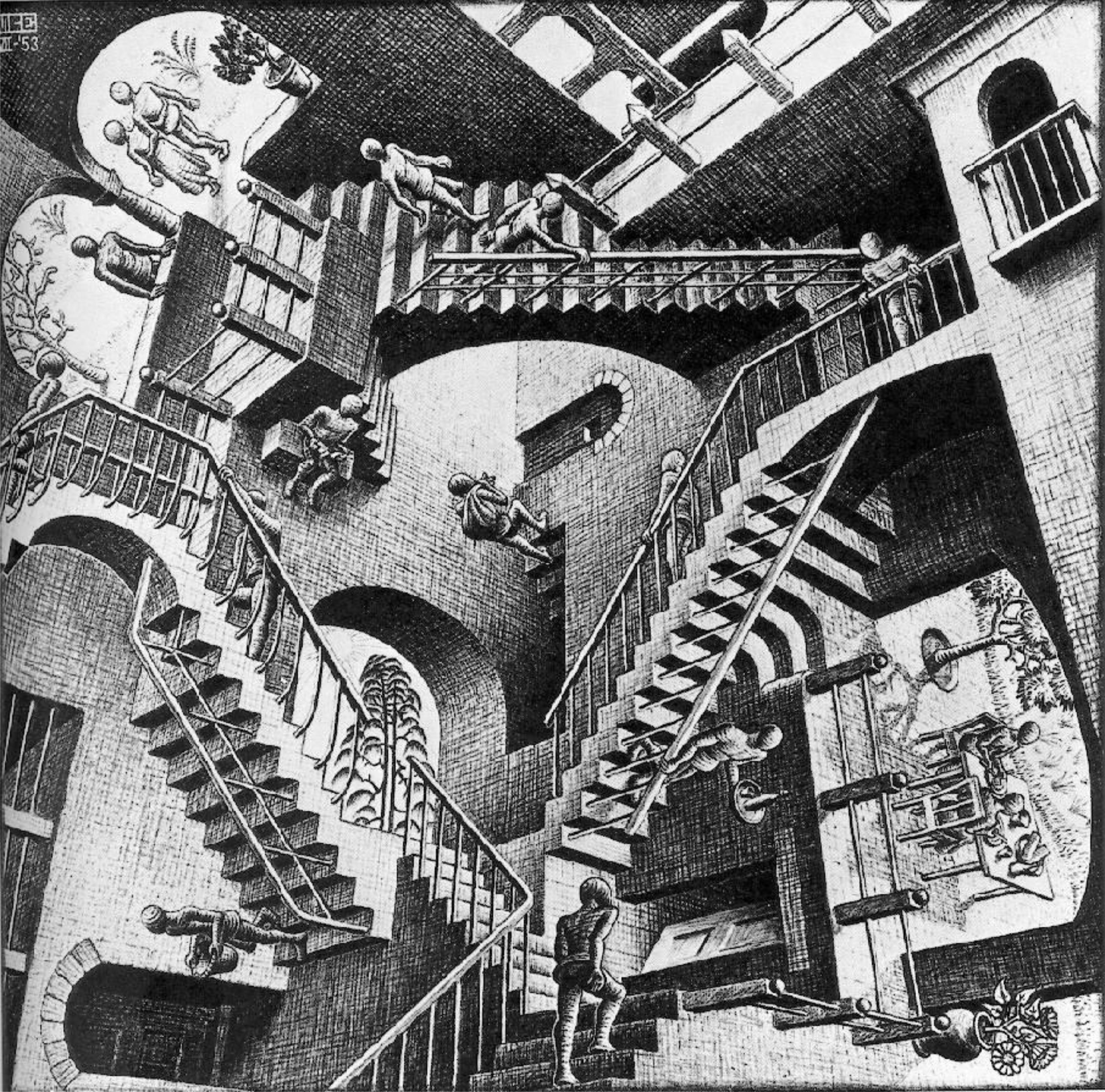 Относительность. Escher Maurits. 3д картина. 00000