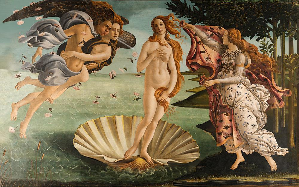 Рождение Венеры. Sandro Botticelli. 3д картина. 3d-kh-sb-001