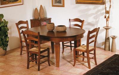 Tavolo ovale allungabile in castagno massello Art.2856 – Sedie e Tavoli