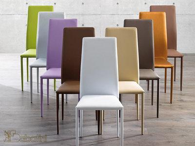 Sedia in metallo Rivestita in Ecopelle Art.5855 – Sedie e Tavoli