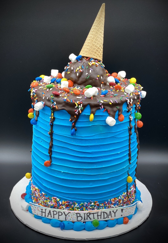 Fabulous Bd Birthday Cake Personalised Birthday Cards Sponlily Jamesorg