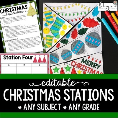 Christmas Stations - Editable Template