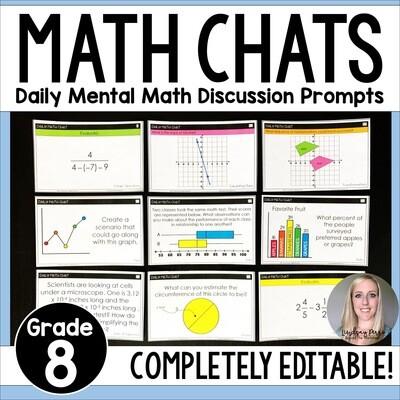 8th Grade Math Chats - Daily Math Problems