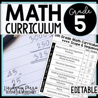 5th Grade Math Curriculum