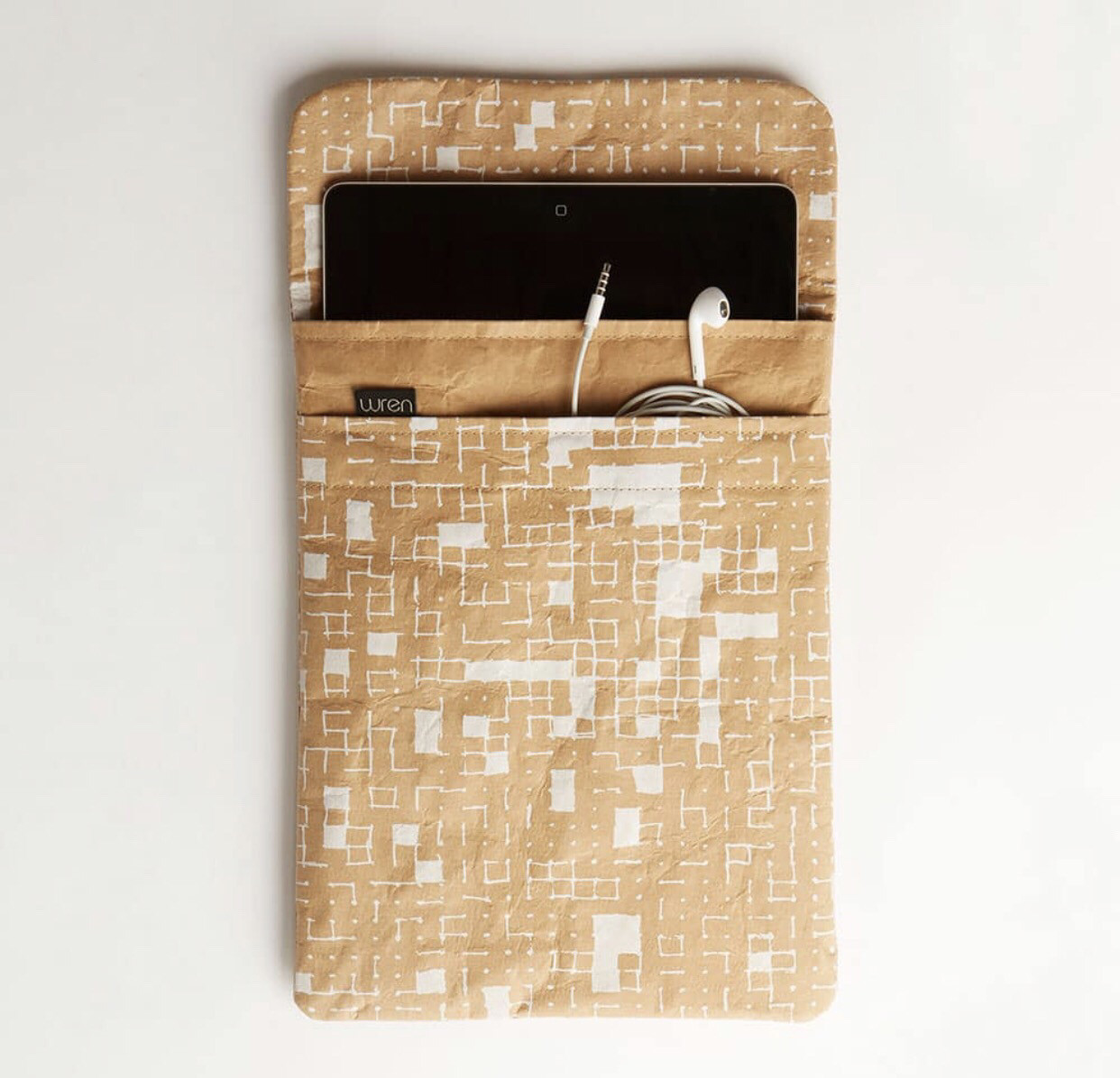 White Dots & Squares iPad and Tablet Sleeves