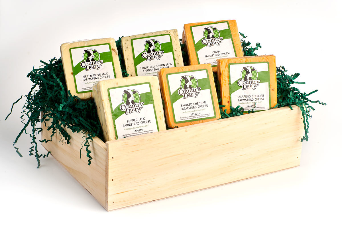 4 lb. Cheese in Vintage Wooden Box 00009