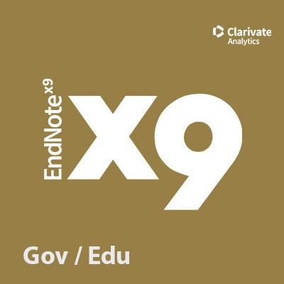 EndNote X9 - EDU / GOV | Forschung und Lehre [OnCampus]