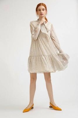 Платье шифоновое с бантом