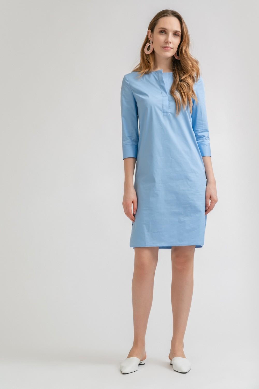 Платье хлопковое с поясом