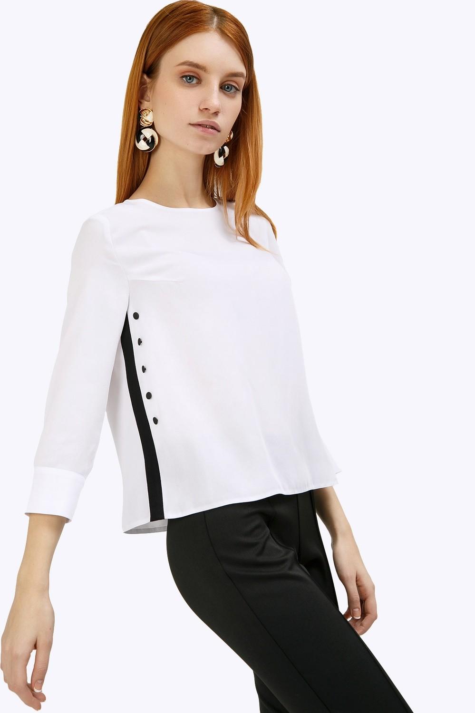 Блузка с лампасами