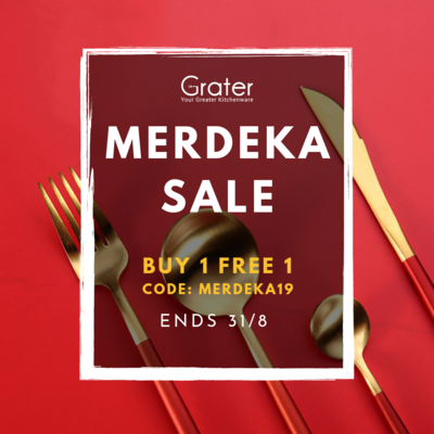 [Buy 1 Free 1] Set of 4 Western Luxury Stainless Steel Gold Flatware Cutlery Set in Box
