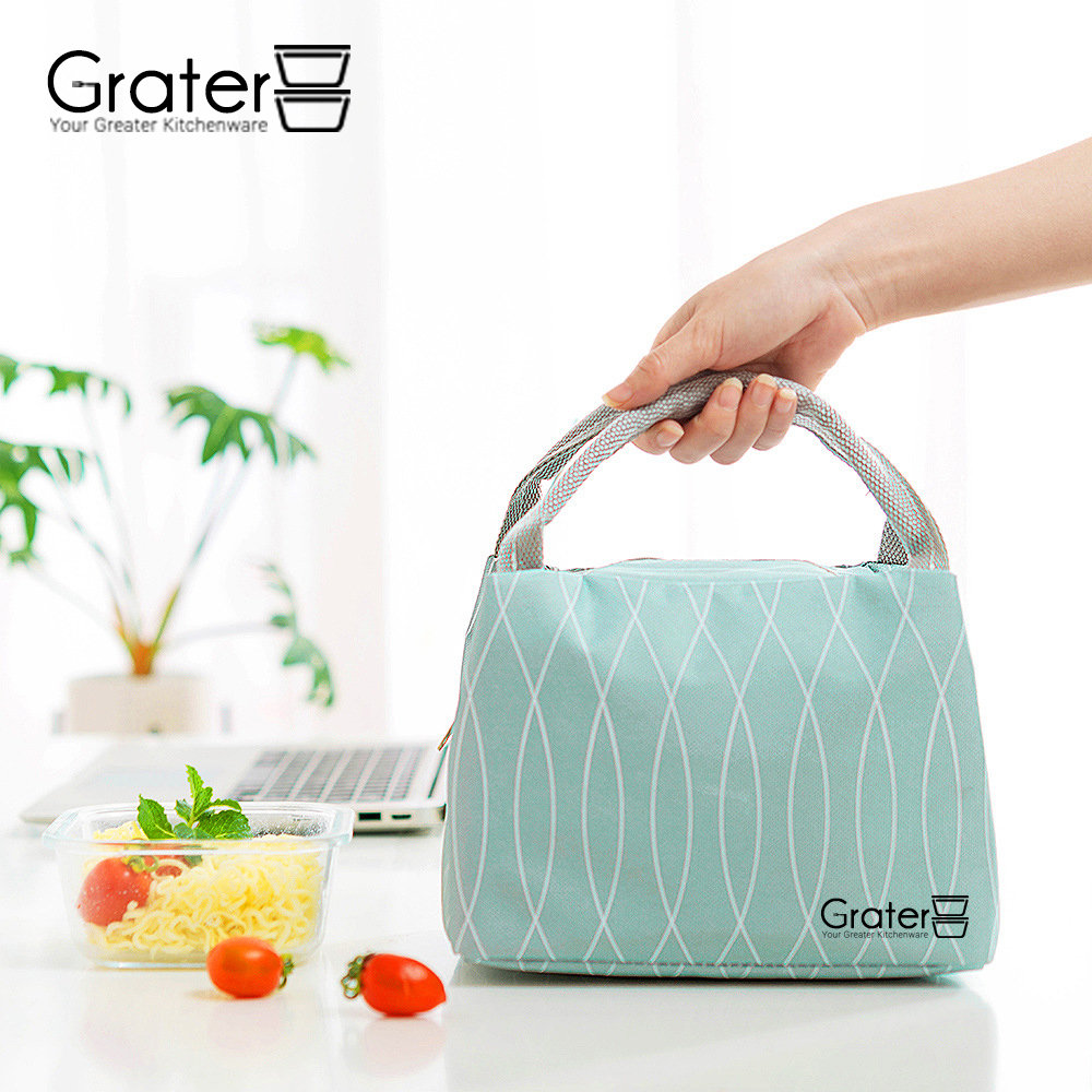 Japanese Canvas Thermal Lunch Bag / Cooler Bag