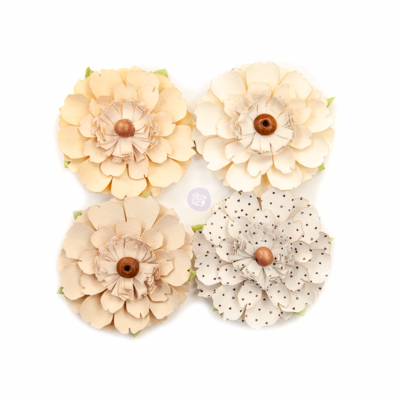Neutral Beauty - Pretty Pale Flowers - Prima