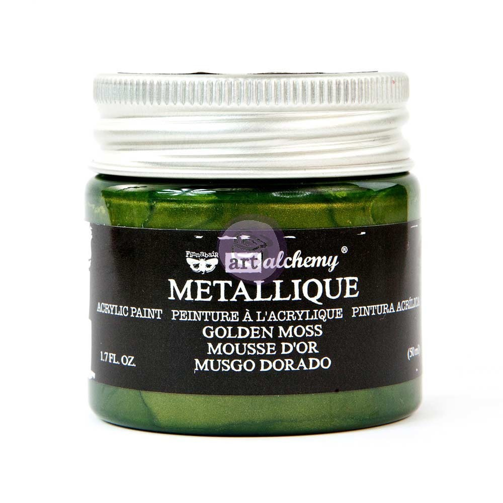 Golden Moss - Metallique Acrylic Paint - Art Alchemy - Prima