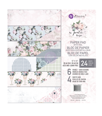 Poetic Rose 12x12 Paper Pad