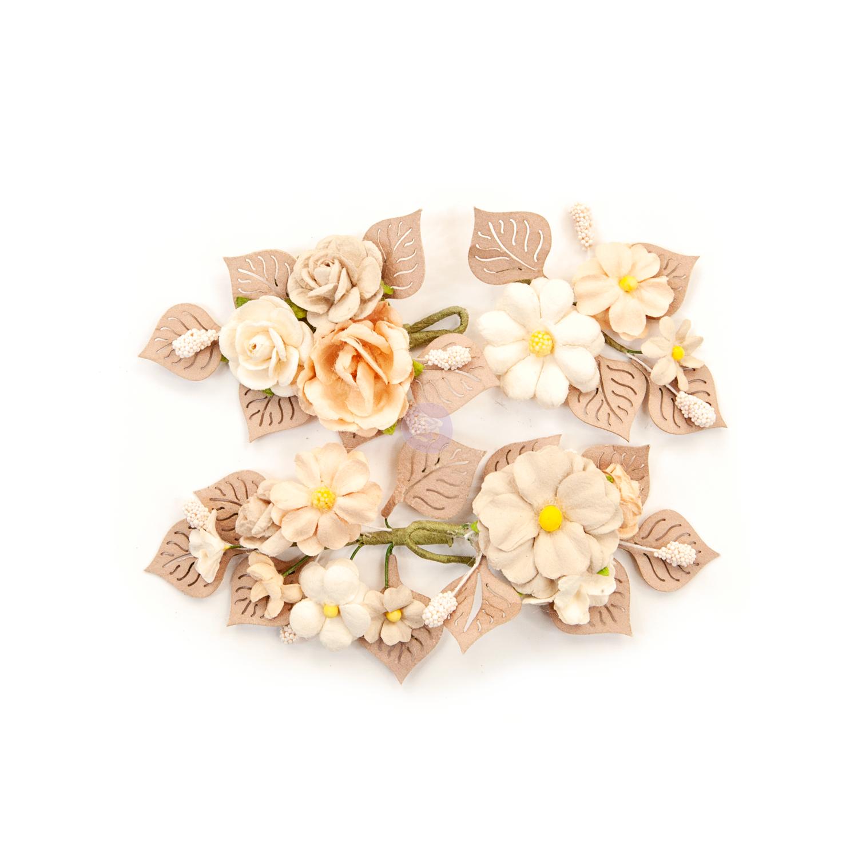 Rustic Floral - Pretty Pale Flowers - Prima