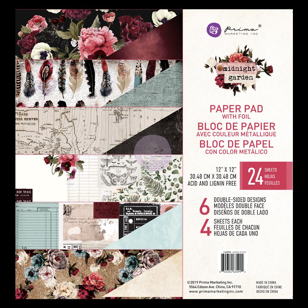 Midnight Garden 12x12 Paper Pad