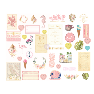 Golden Coast Chipboard Stickers