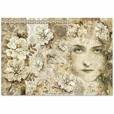 Old Lace Face - XL Stamperia Rice Paper