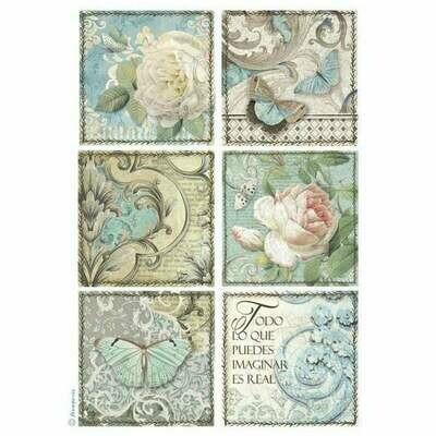 Azulejos Cards - A4 -Stamperia Rice Paper