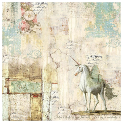 Wonderland Unicorn - Napkin - Stamperia Rice Paper Napkin