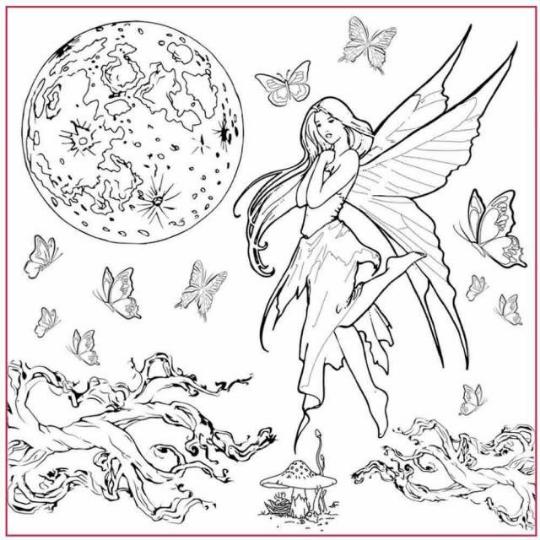 Fairy Silhouette Art - Napkin - Stamperia Rice Paper Napkin