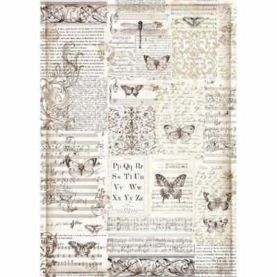 Butterflies - A3 -Stamperia Rice Paper