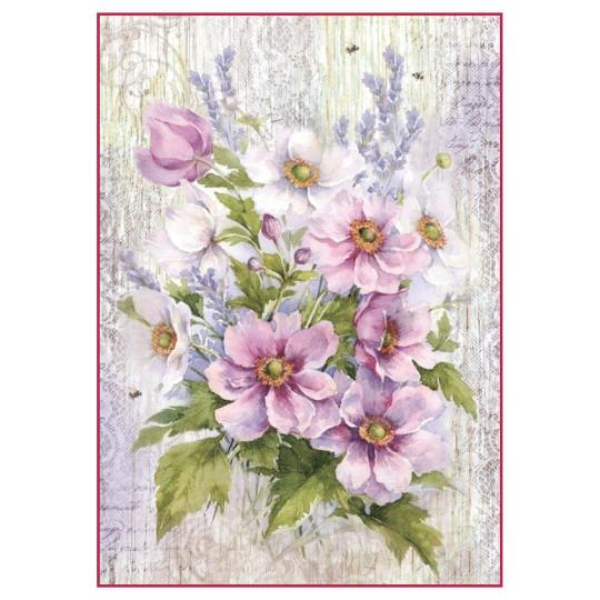 Lilac Bouquet - A4 -Stamperia Rice Paper