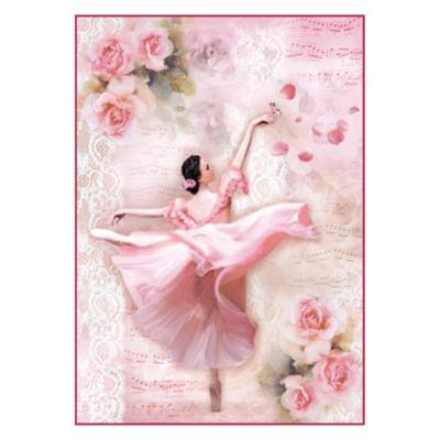 Dancer w/ Petals - A4 -Stamperia Rice Paper