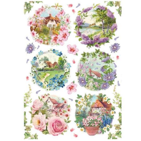 Spring Little Landscapes - A4 -Stamperia Rice Paper