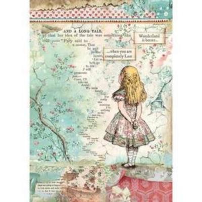 Alice - A4 -Stamperia Rice Paper