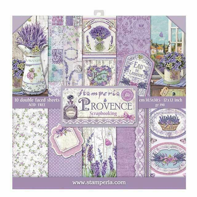 Stamperia Provence - 12 x 12 Paper Pad