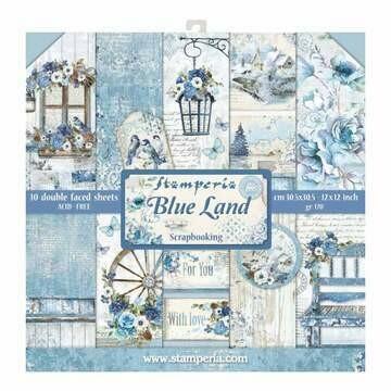 Stamperia Blue Land- 12 x 12 Paper Pad