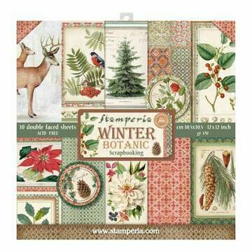 Stamperia Winter Botanic - 12 x 12 Paper Pad
