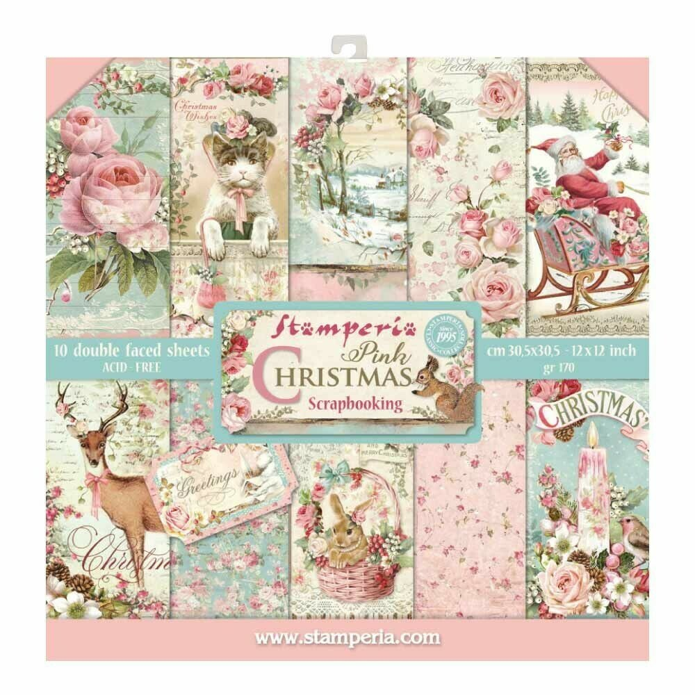 Stamperia Pink Christmas - 12 x 12 Paper Pad