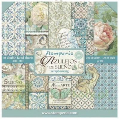 Stamperia Azulejos- 12 x 12 Paper Pad