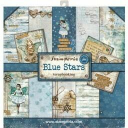Stamperia Blue Stars - 12 x 12 Paper Pad