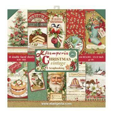 Stamperia Christmas Vintage - 12 x 12 Paper Pad