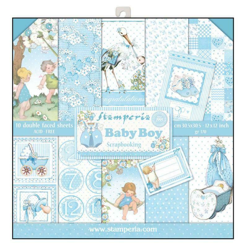Stamperia Baby Boy - 12 x 12 Paper Pad