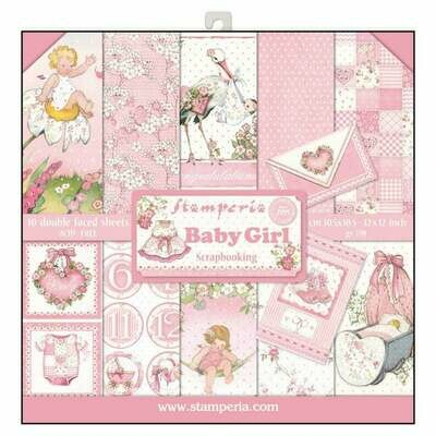 Stamperia Baby Girl - 12 x 12 Paper Pad