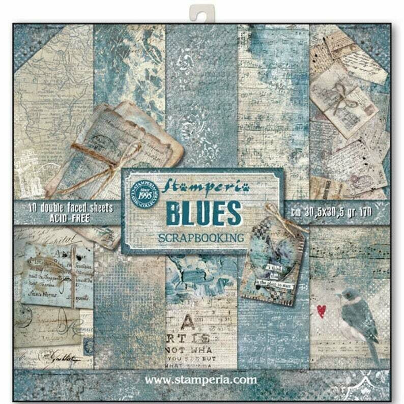 Stamperia Blues - 12 x 12 Paper Pad