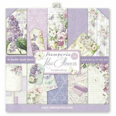 Stamperia Lilac Flowers - 12 x 12 Paper Pad