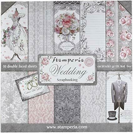 Stamperia Wedding - 12 x 12 Paper Pad