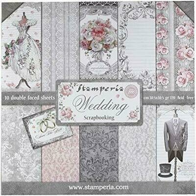 Stamperia Wedding - 12 x 12 Paper Pad