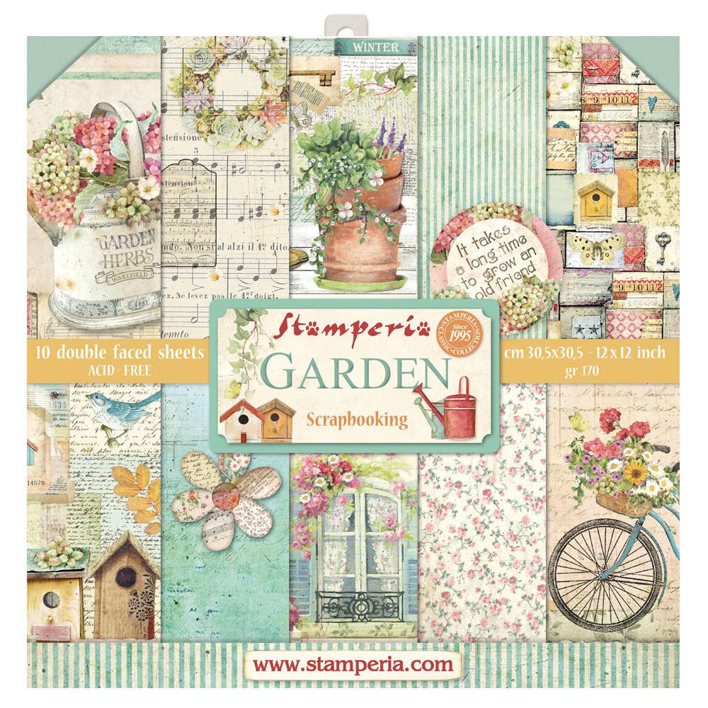 Stamperia Garden - 12 x 12 Paper Pad