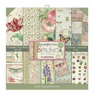 Stamperia Spring Botanic - 12 x 12 Paper Pad