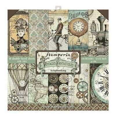 Stamperia Voyages Fantastiques - 12 x 12 Paper Pad